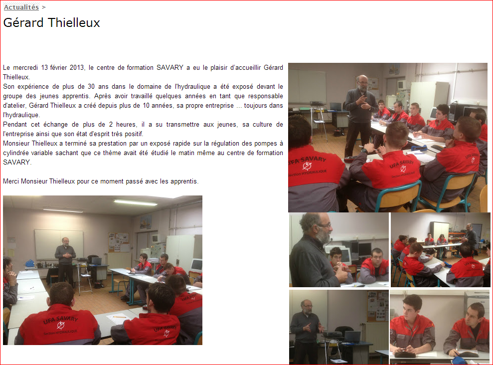 conference hydraulique lycée SAVARy Wattrelos
