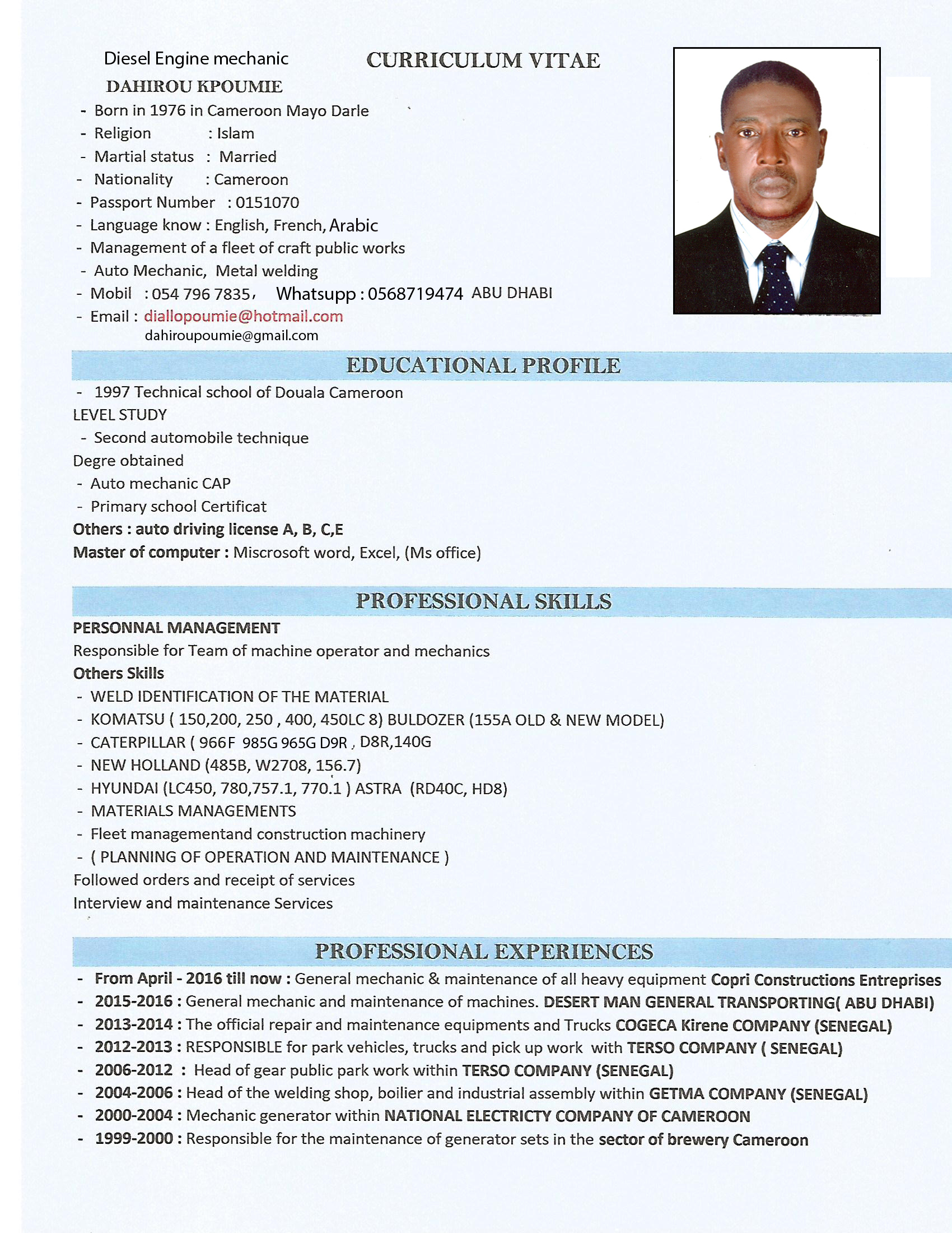 offre demande d u2019emploie en hydraulique  entreprise patron